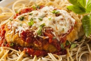 homemade italian chicken parmesan